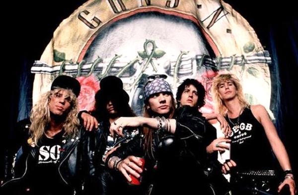 bandas de rock de los 90, guns n roses